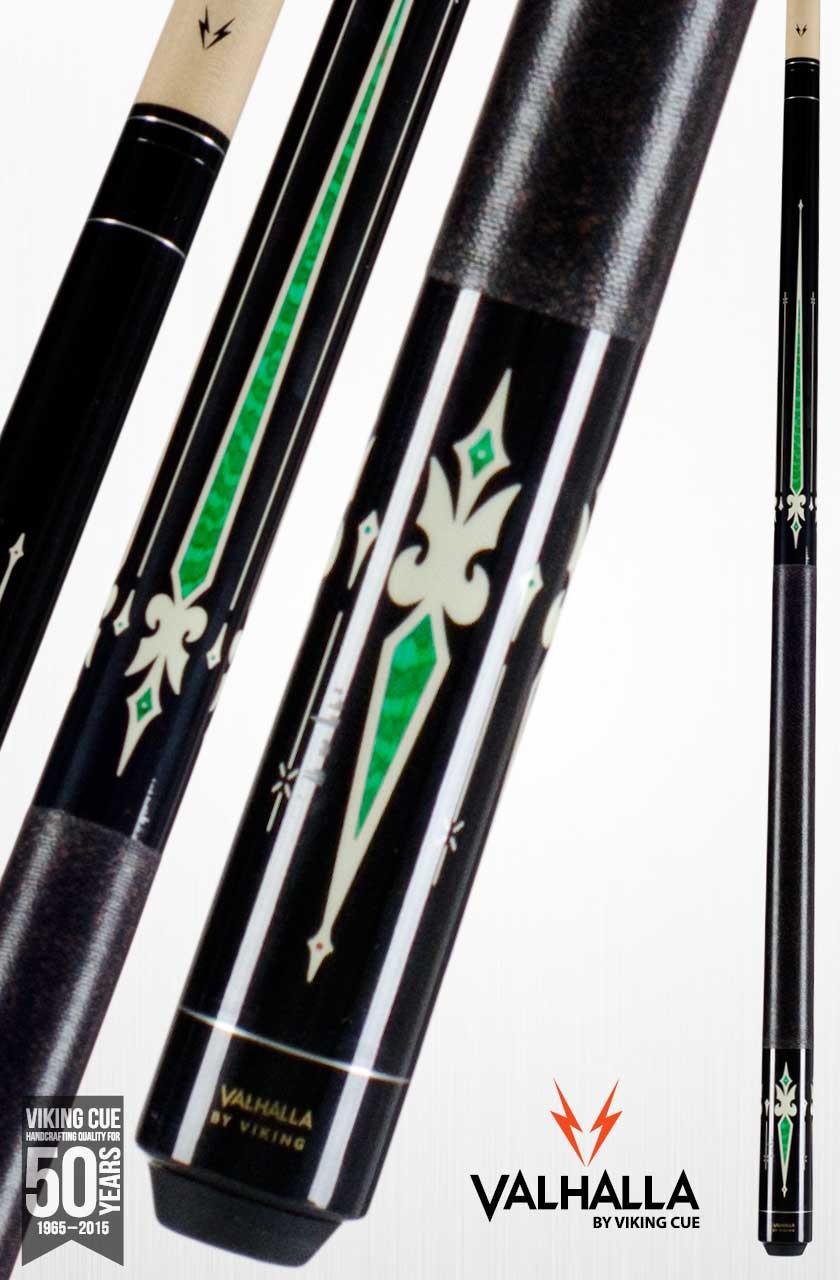 Viking Valhalla VA321 Black/Green Pool Cue Stick
