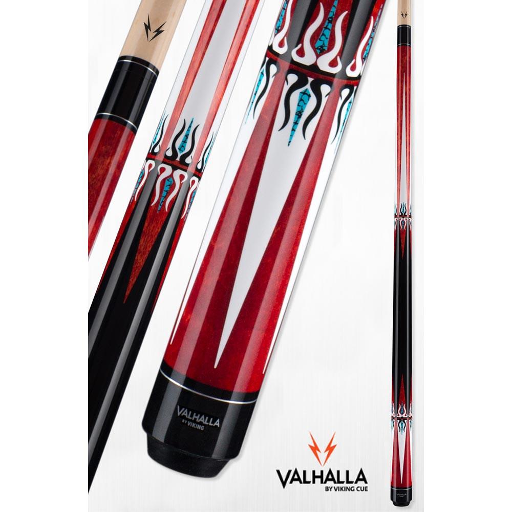 Valhalla VA601 Red Pool Cue Stick from Viking Cue