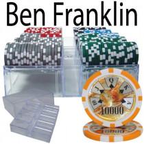 Ben Franklin 14 Gram 200pc Poker Chip Set w/Acrylic Tray