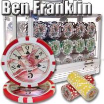 Ben Franklin 14 Gram 600pc Poker Chip Set w/Acrylic Case