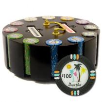 Desert Heat 300pc Poker Chip Set w/Wooden Carousel
