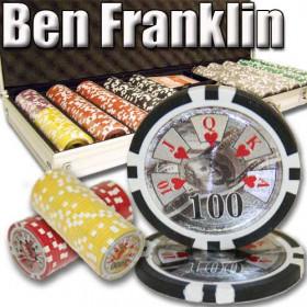 Ben Franklin 500pc Poker Chip Set w/Aluminum Case