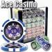 Ace Casino 14 Gram 1000pc Poker Chip Set w/Acrylic Case