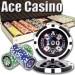 Ace Casino 14 Gram 500pc Poker Chip Set w/Aluminum Case