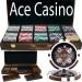 Ace Casino 14 Gram 500pc Poker Chip Set w/Walnut Case