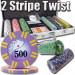 2 Stripe Twist 300pc 8 Gram Poker Chip Set w/Aluminum Case