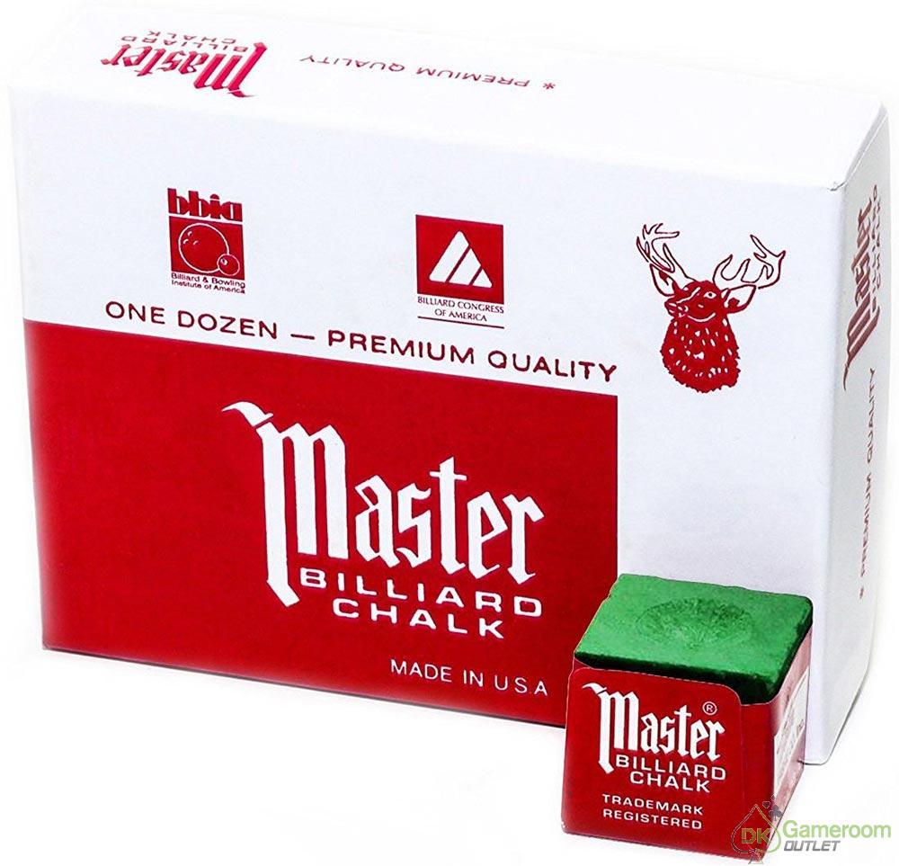Master Billiard Pool Cue Chalk 1 Dozen Green Ebay