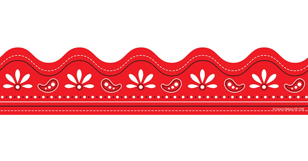 red bandana scalloped borders cd1256 carson dellosa