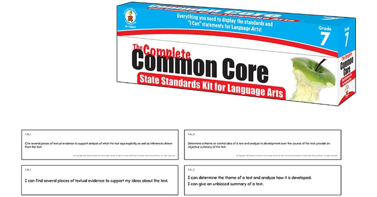 The Complete Common Core State Standards Kit For Language Arts Grade 7