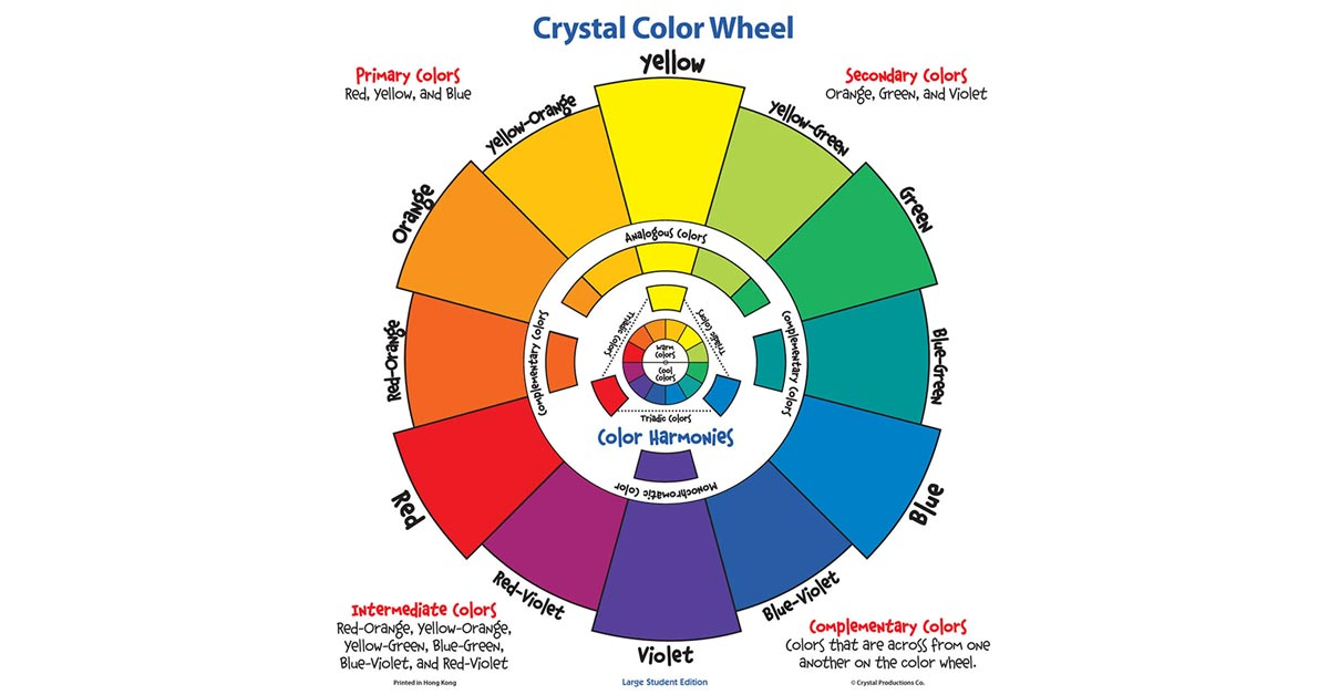 large student color wheel   crystal