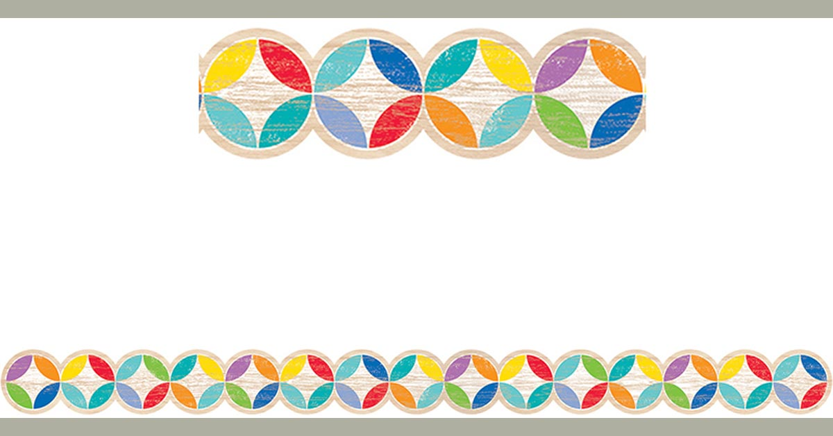 Creative Teaching Press Upcycle Style Rustic Medallions Border 8382