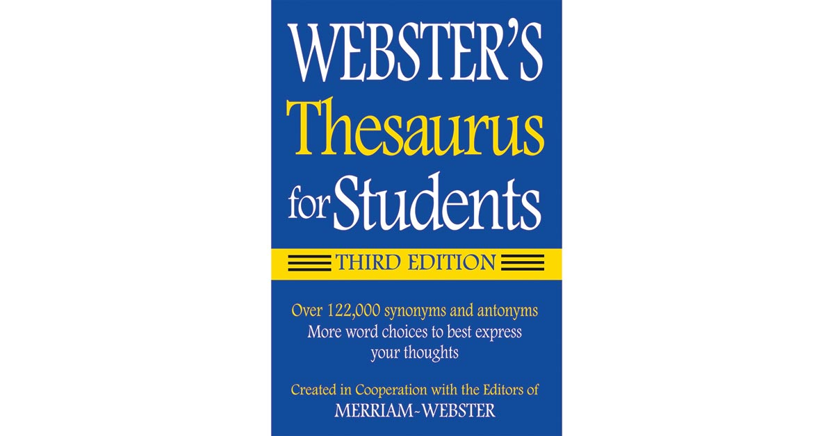 Websters thesaurus for students fsp9781596950948 for Decor thesaurus