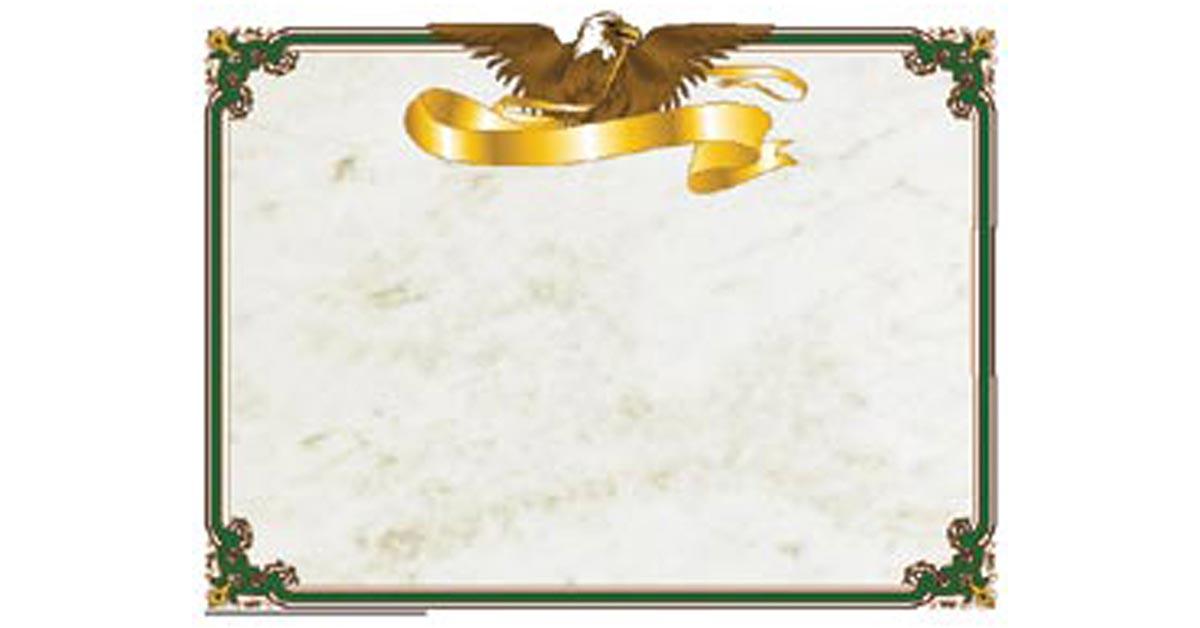 eagle certificate border  computer paper