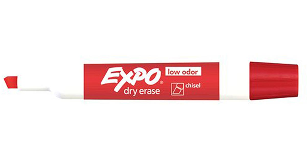 Expo 2 Low Odor Dry Erase Marker Chisel Tip Red - SAN80002