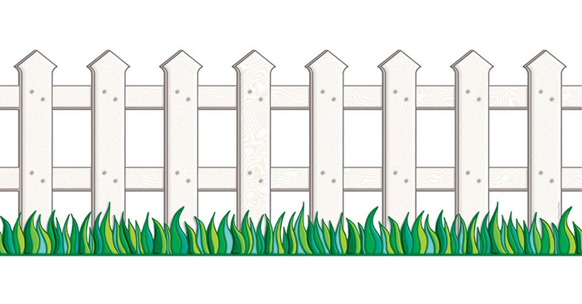 Classroom Decorations For High School ~ White picket fence accent punch out tf scholastic