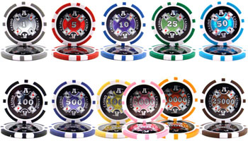 Ace Casino Poker Chip Sets