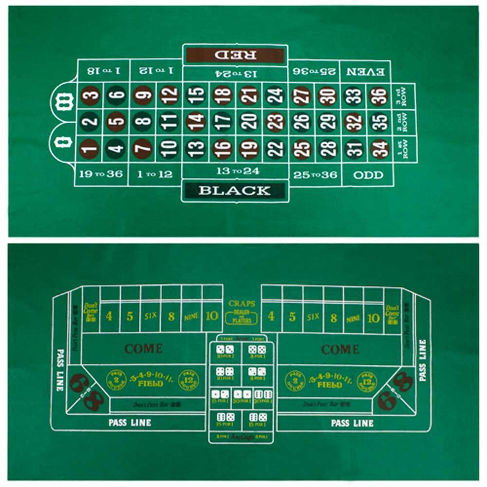 Craps And Roulette Casino Table Felt Home Casino Table Felt