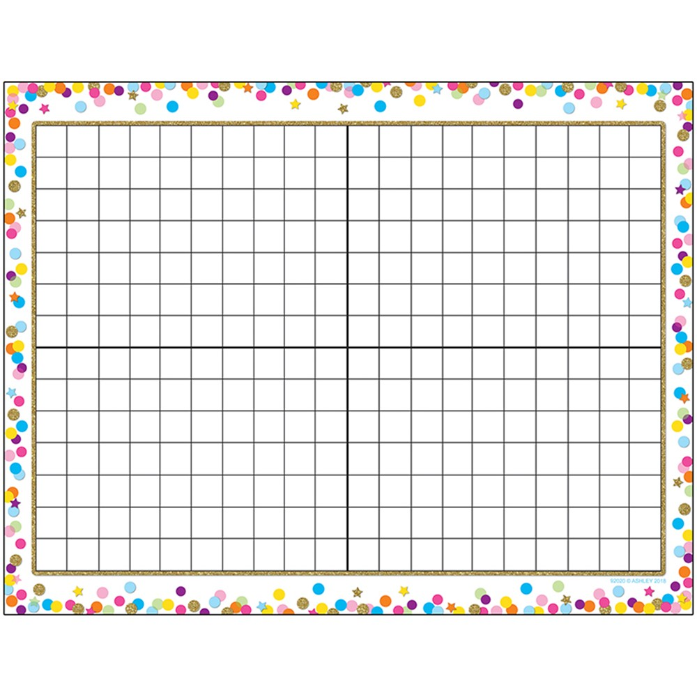 Jeopardy Grid: Smart Poly Chart Grid Confetti Dry-Erase Surface