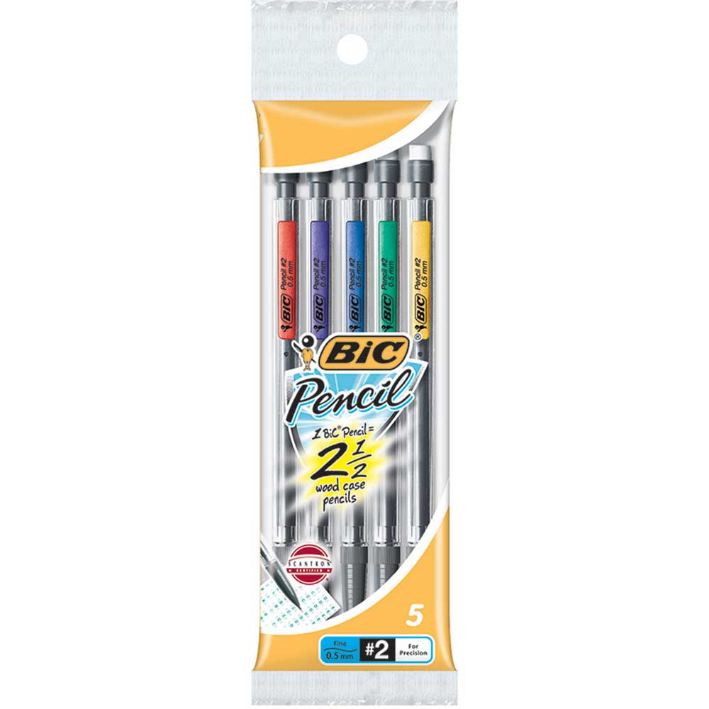 bic mechanical pencils 0 5mm 5pk bicmpfp51 bic usa inc. Black Bedroom Furniture Sets. Home Design Ideas