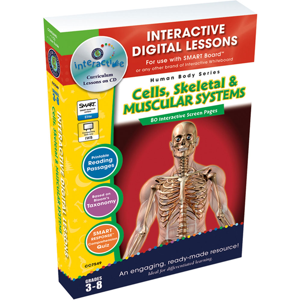Cells Skeletal Muscular Systems Interactive Whiteboard Lessons
