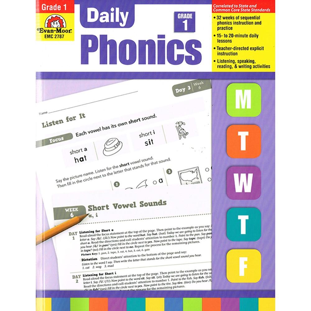Daily Phonics Practice Gr 1 Emc2787 Evan Moor Readinglanguage
