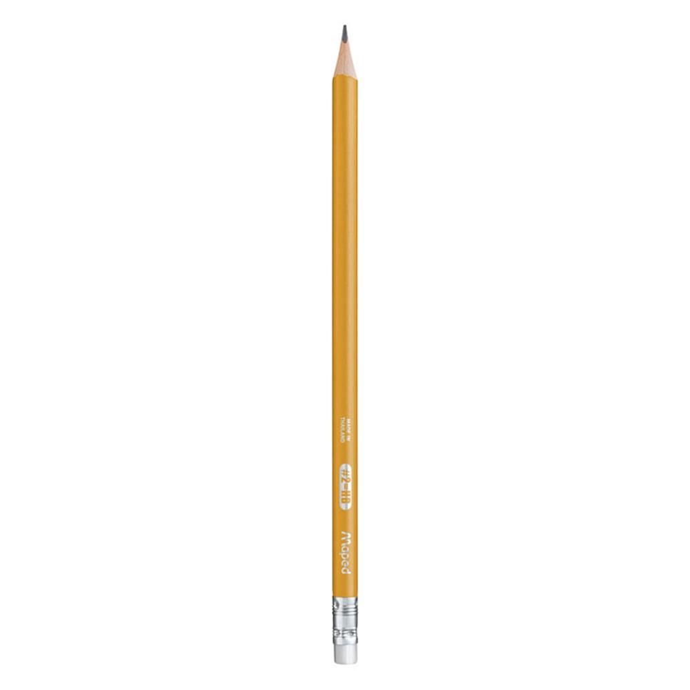 Maped Essentials Triangular Graphite #2 Pencils 851779ZT Pack of 12