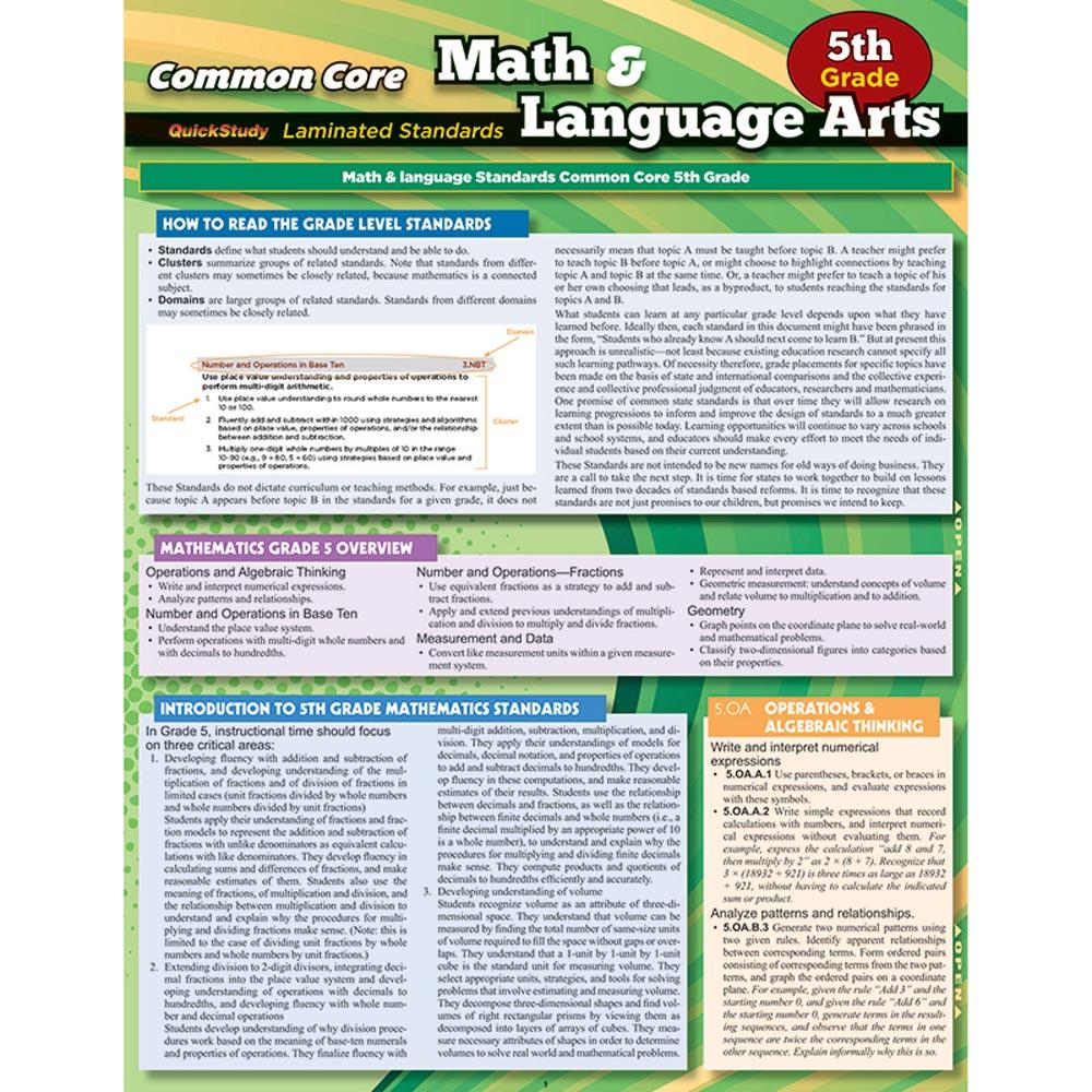 Common Core Gr 5 Math & Language Arts Standards