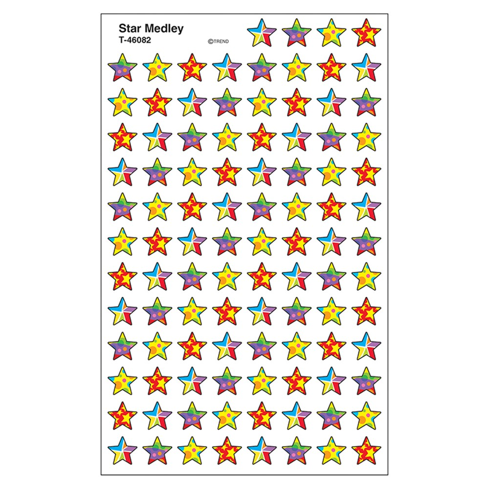 superpads谱子-Star Medley Supershape Superspots Shapes Stickers