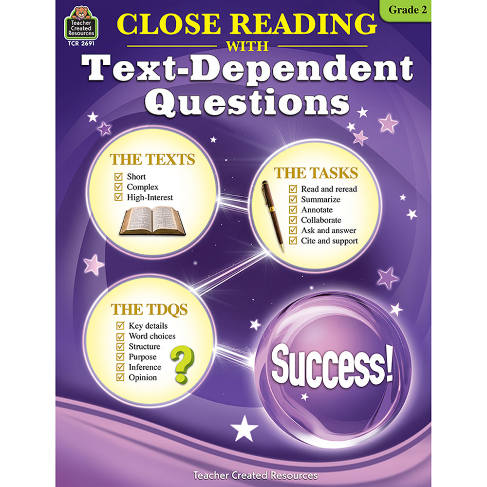 - Close Reading With Text-Dependent Questions (Gr. 2) - TCR2691