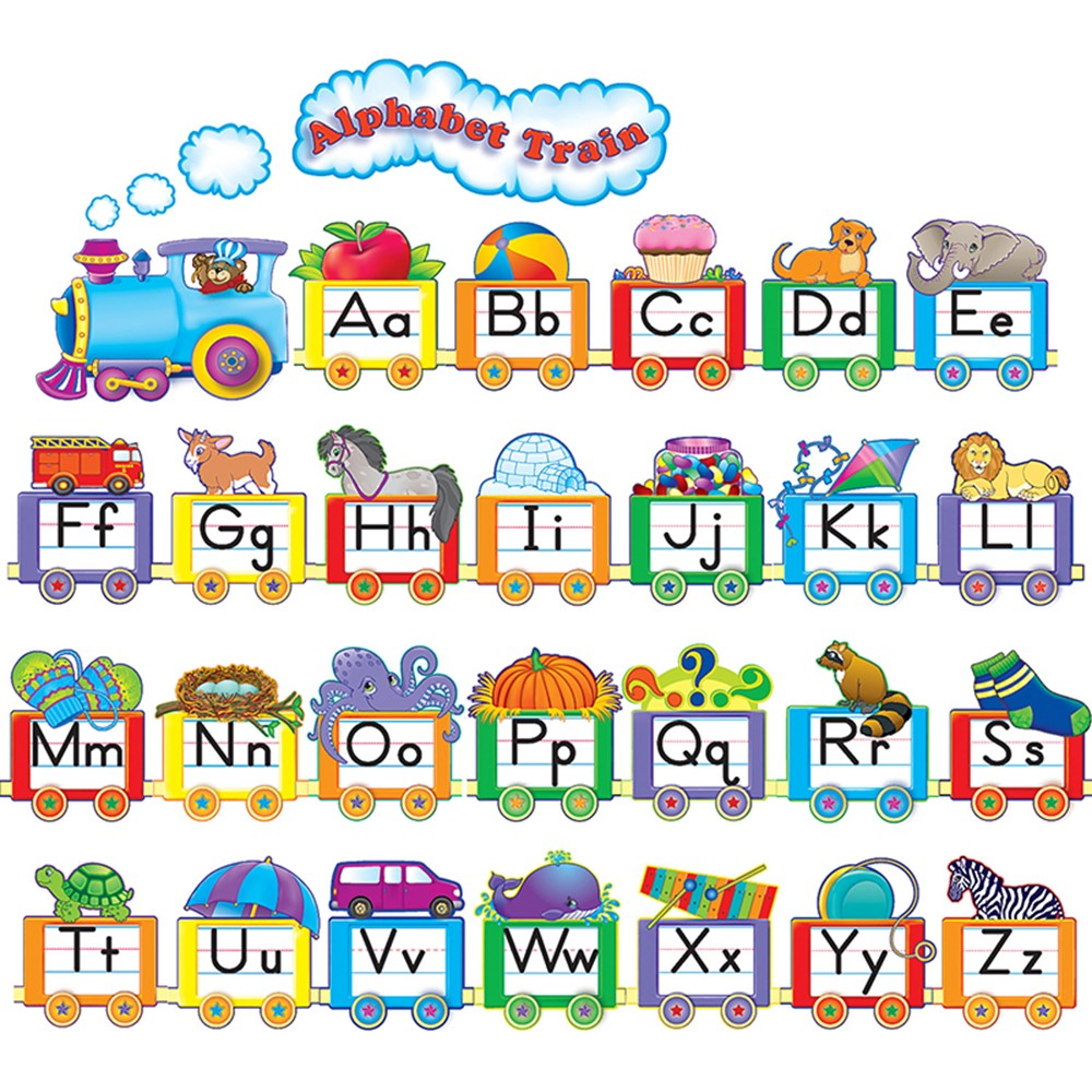 Alphabet Train Bulletin Board Set Teacher Created