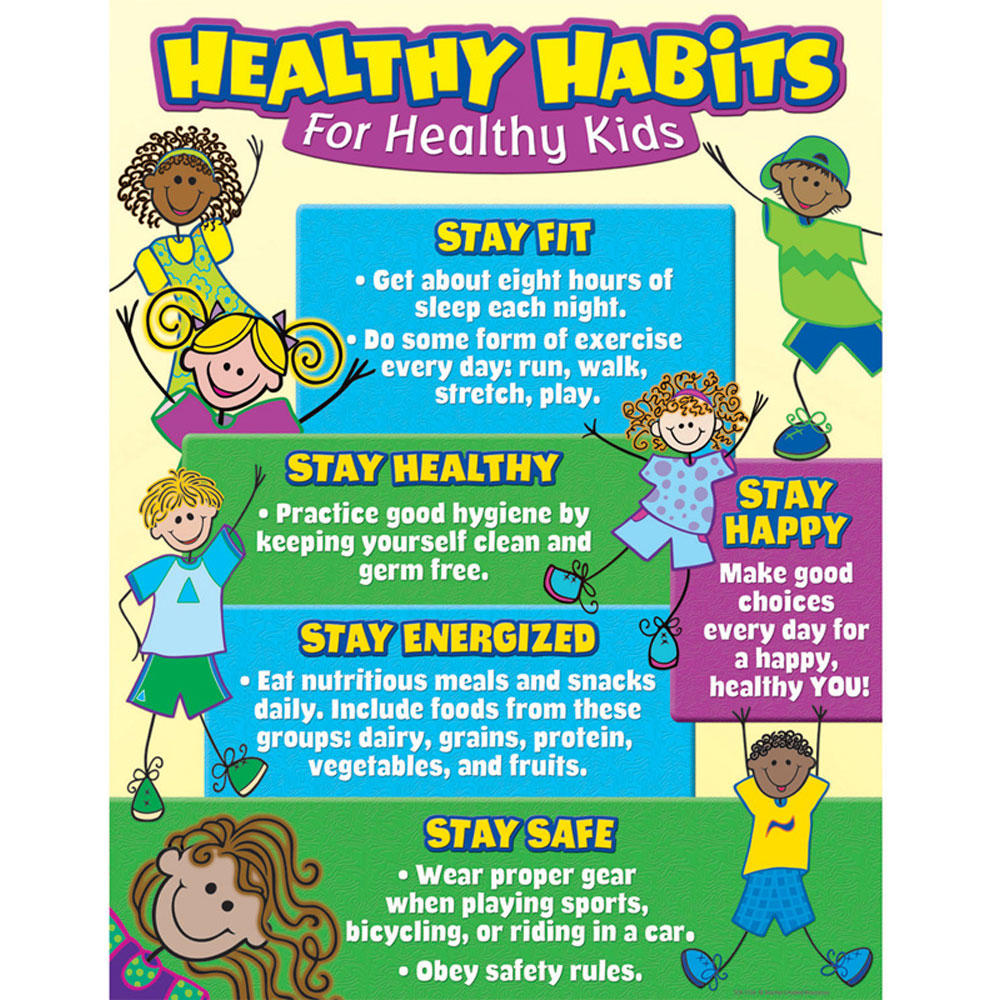 Healthy Habits For Healthy Kids Chart - TCR7736 | Teacher Created ...