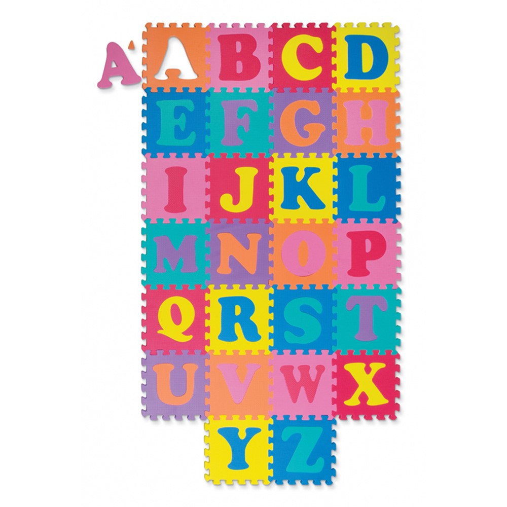 Wonderfoam Alphabet Puzzle 52 Pcs Mat 10 X 10 Ck 4381