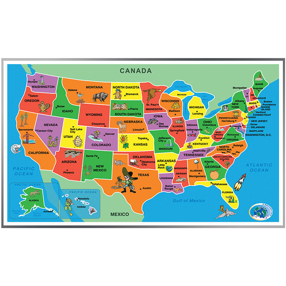 ABW153A - Kids Puzzle Of The Usa in Puzzles