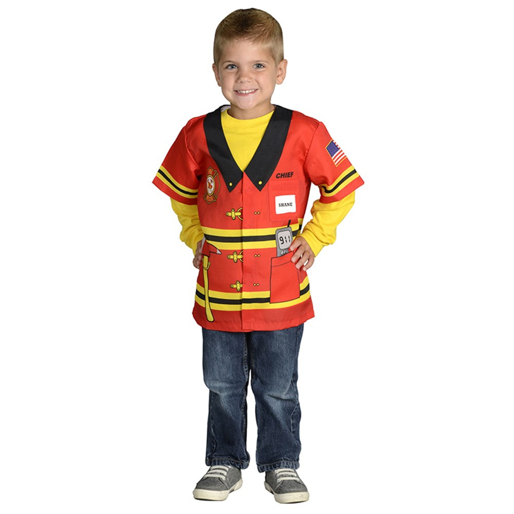 AEATFF - My 1St Career Gear Firefighter Top One Size Fits Most Ages 3-6 in Role Play