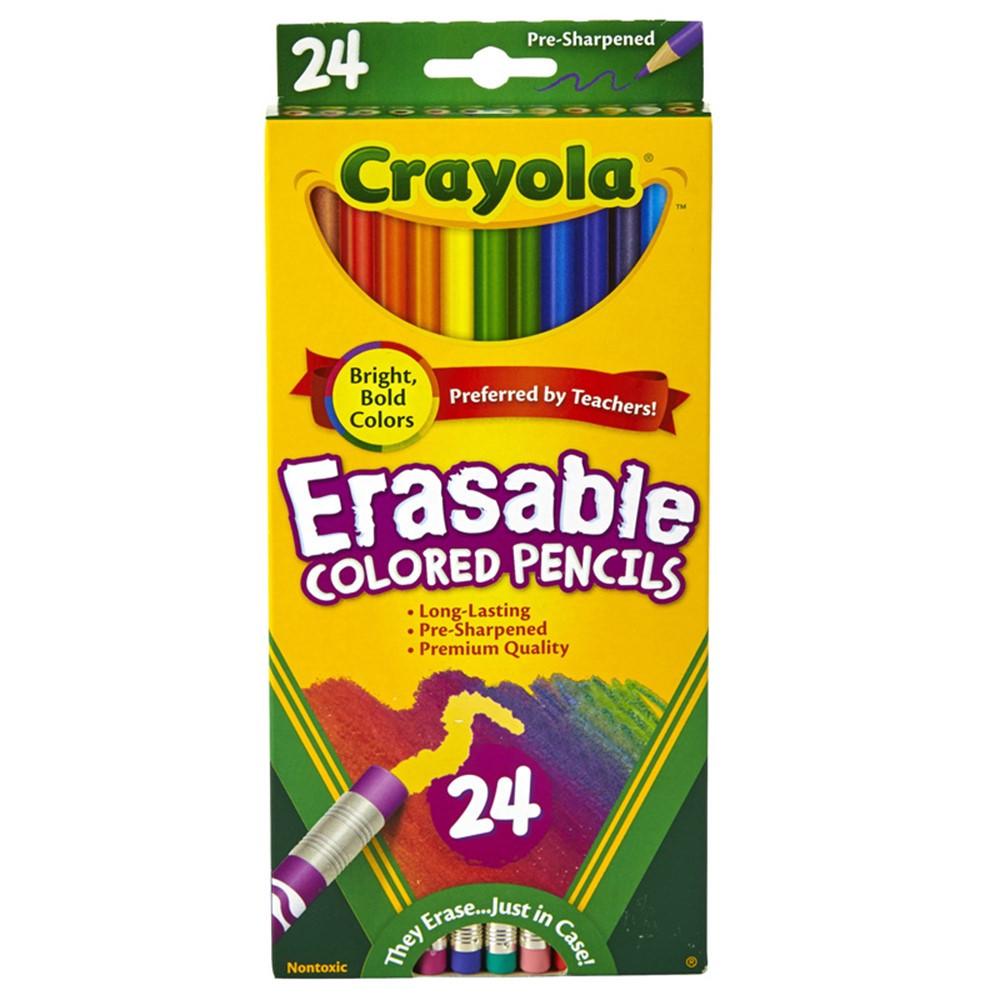 BIN682424 - 24 Ct Erasable Colored Pencils in Colored Pencils