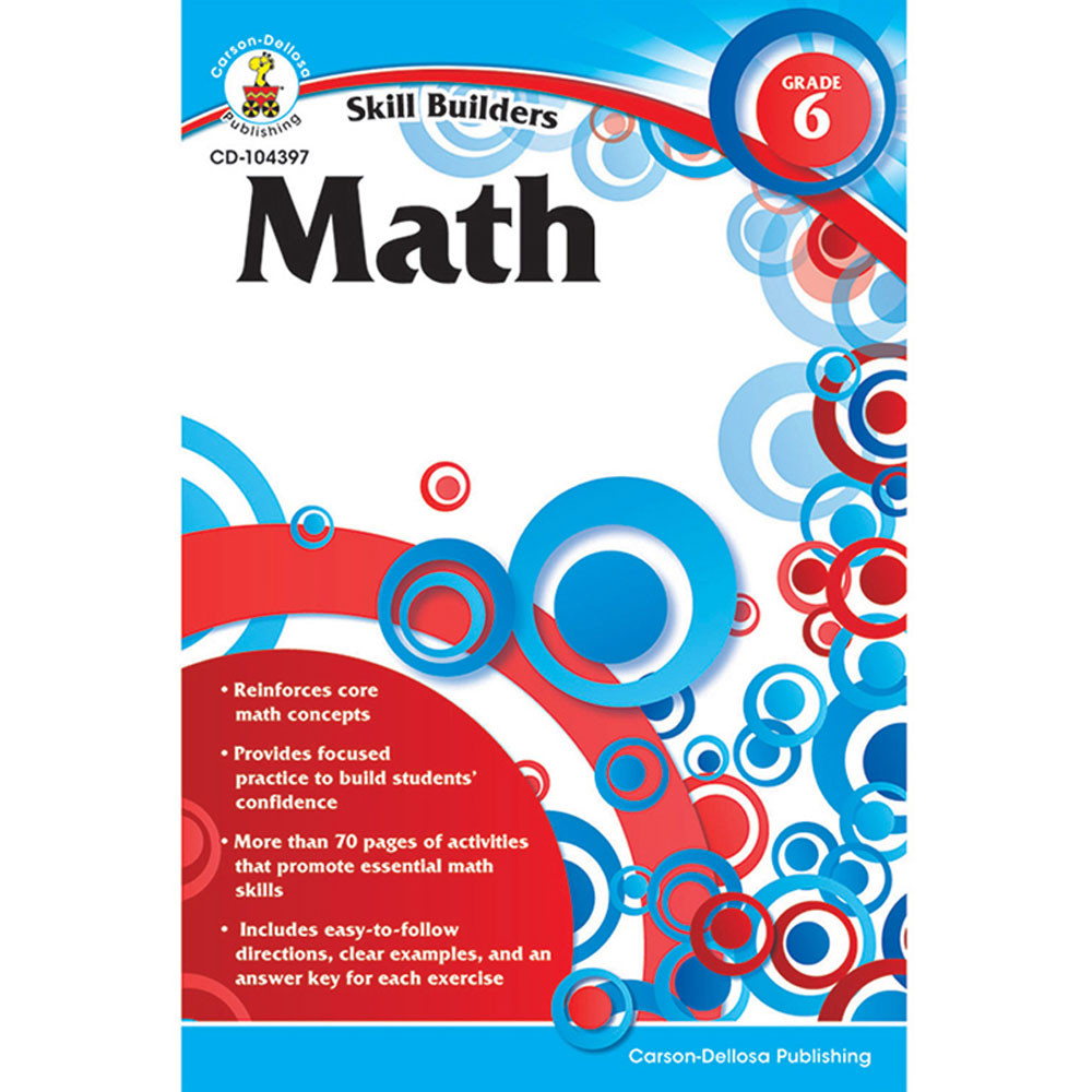 CD-104397 - Skill Builders Math Gr 6 in Activity Books
