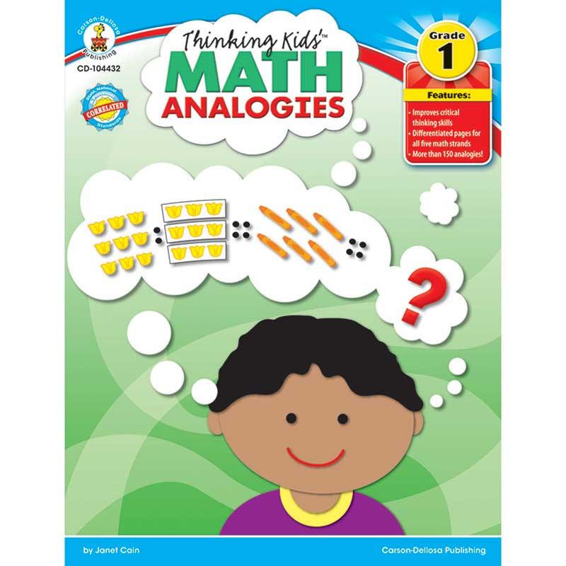 CD-104432 - Thinking Kids Math Analogies Gr 1 in Books