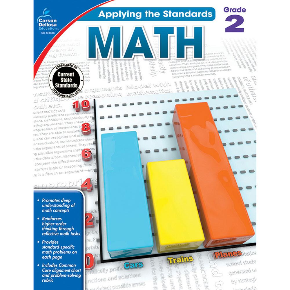 Math, Grade 2 - CD-104848 | Carson Dellosa | Math,Activity Books