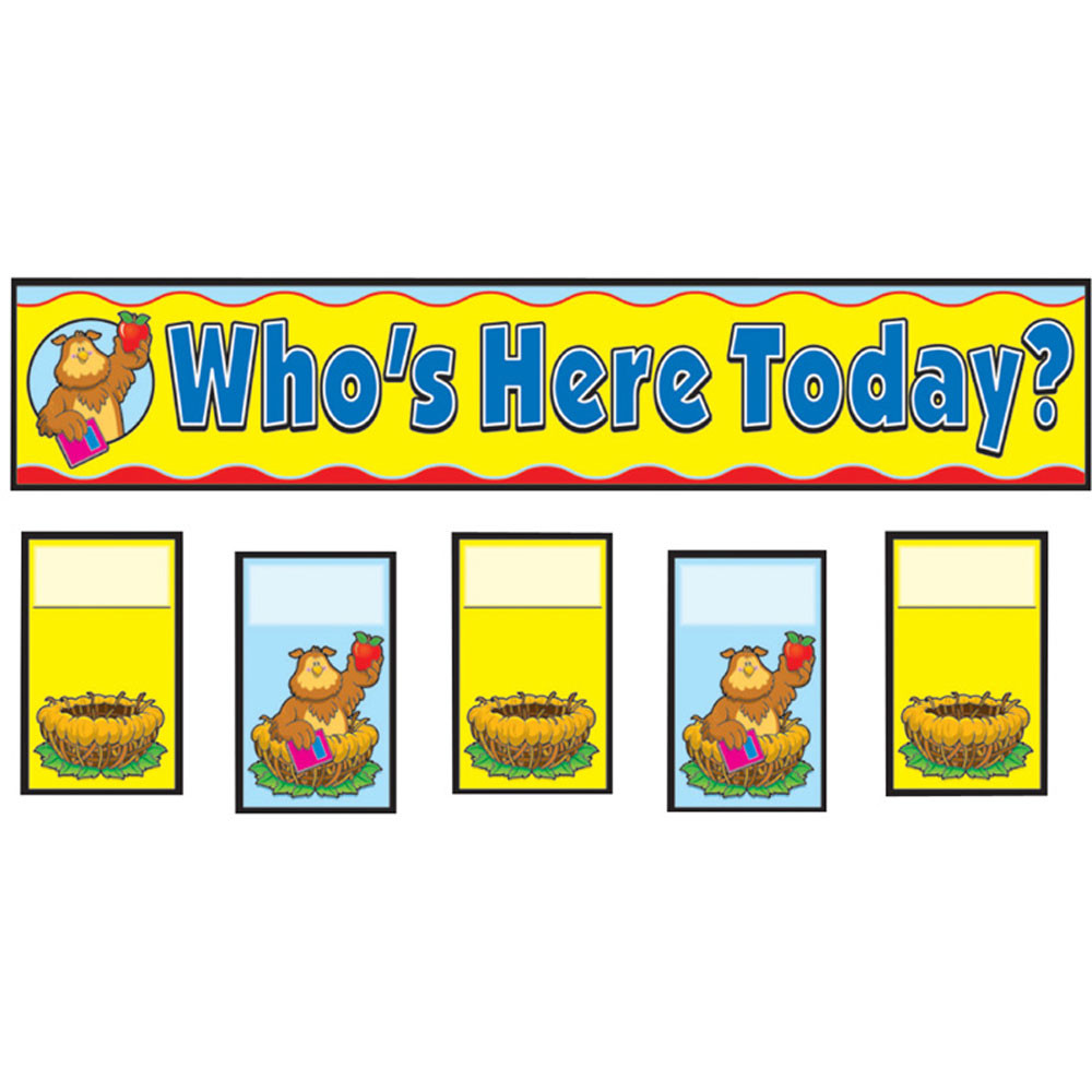 CD-158006 - Attendance Replacement Cards Pocket Charts in Pocket Charts