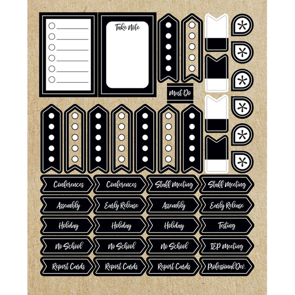 Simply Stylish Planner Accents Sticker Pack, 252 Stickers - CD-168284   Carson Dellosa Education   Stickers
