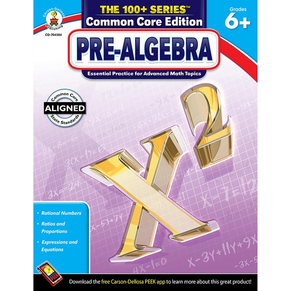 CD-704384 - Pre Algebra Book Grades 6 & Up in Activity Books