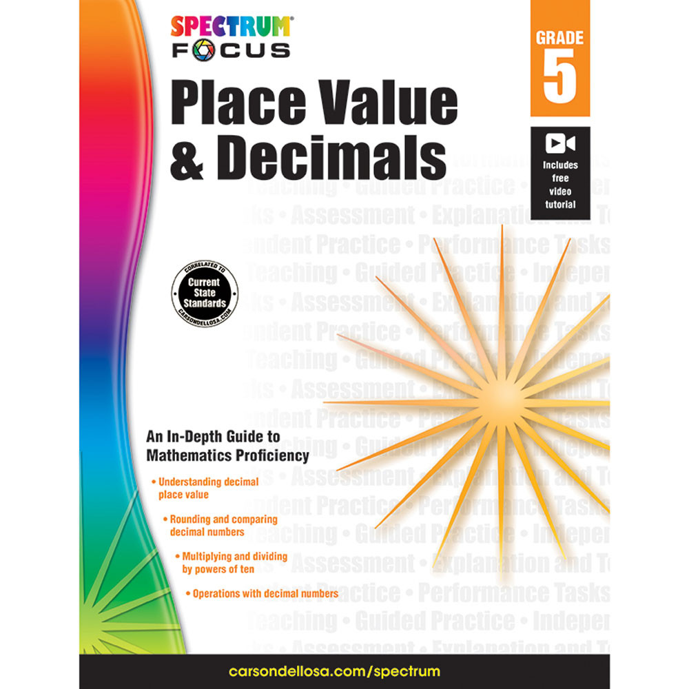 CD-704909 - Spectrum Place Value & Decimals Gr 5 in Place Value