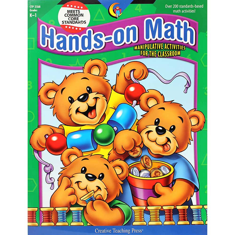CTP2568 - Hands On Math 2Nd Edition Gr K-1 in Activity Books