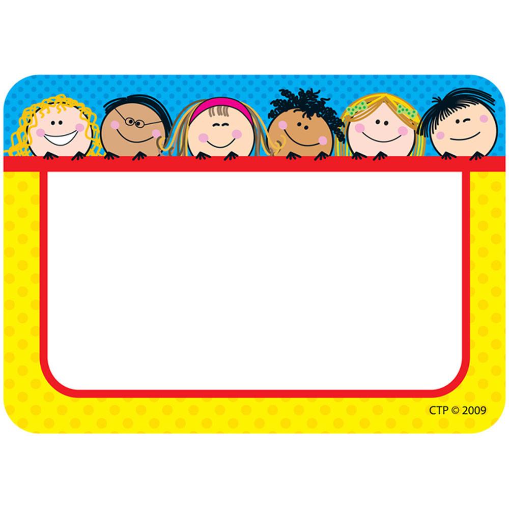 Smiling Stick Kids Name Tags Ctp4503 Creative Teaching