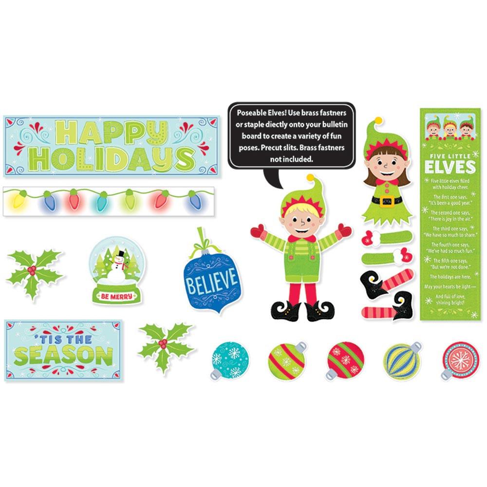 CTP6981 - Tis The Season Mini Bulletin Board Set in Holiday/seasonal