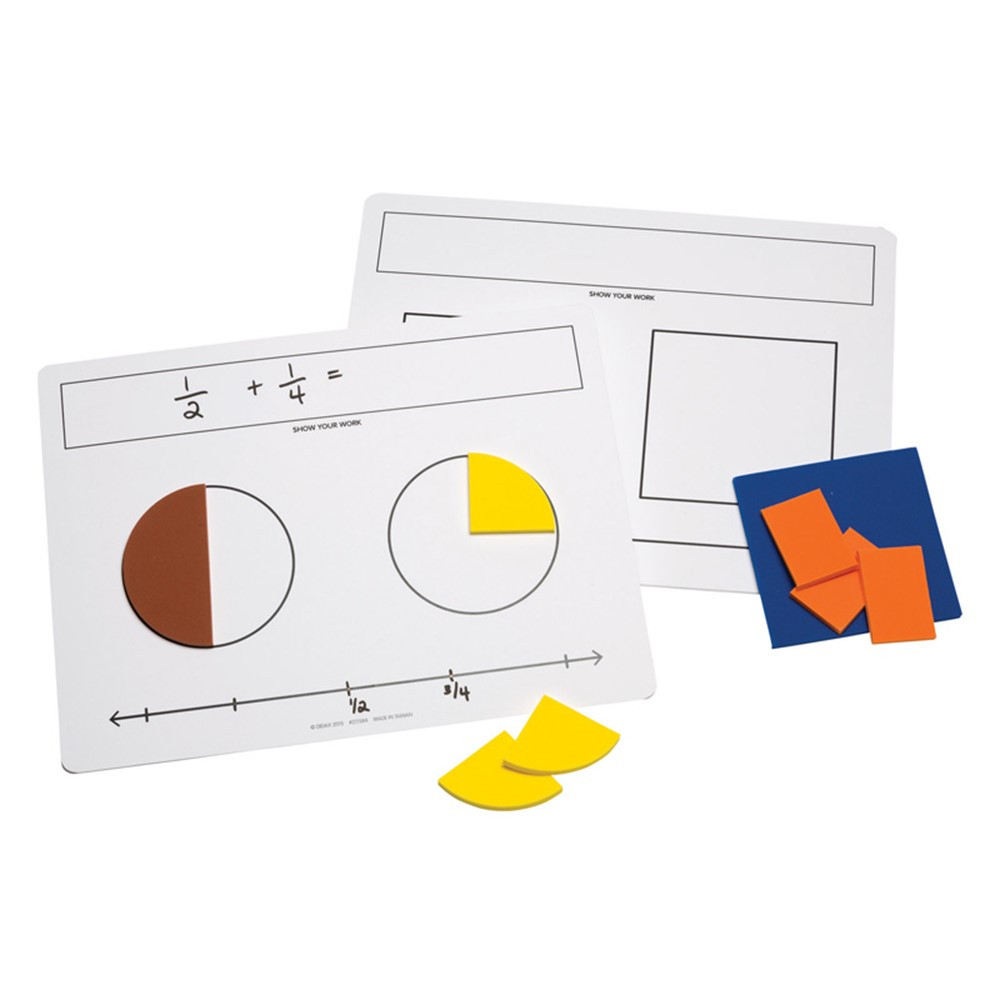 DD-211584 - Write On Wipe Off Fraction Mats in Fractions & Decimals