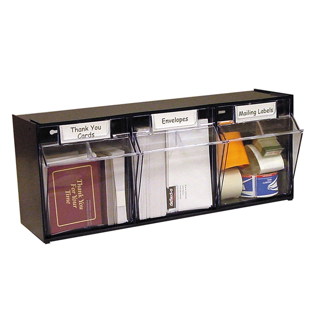 DEF20304OP - Tilt Bin Interlocking 3 Unit Blk Storage in Storage Containers