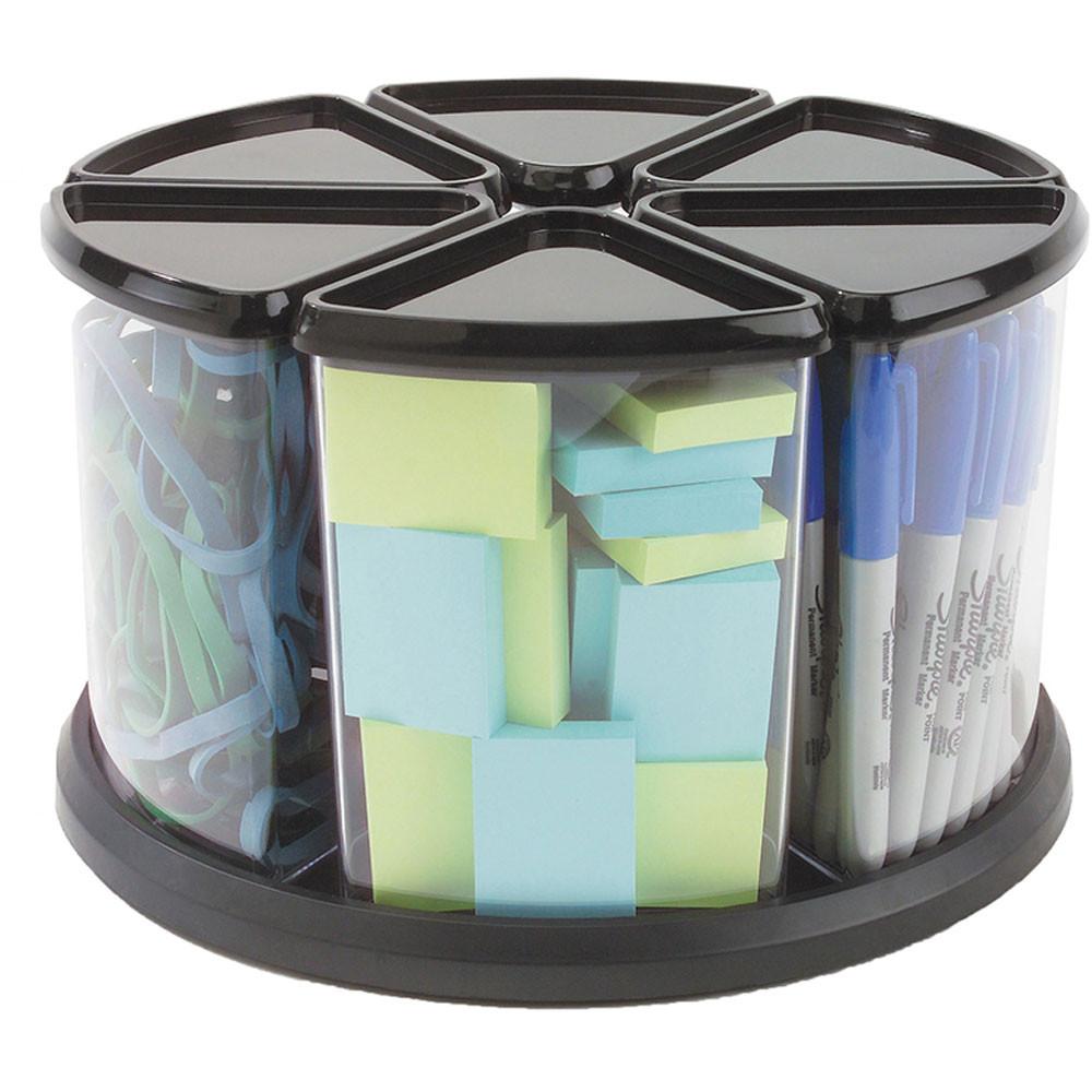 DEF39000104 - Carousel Organizer 6 Bin Black in Storage Containers