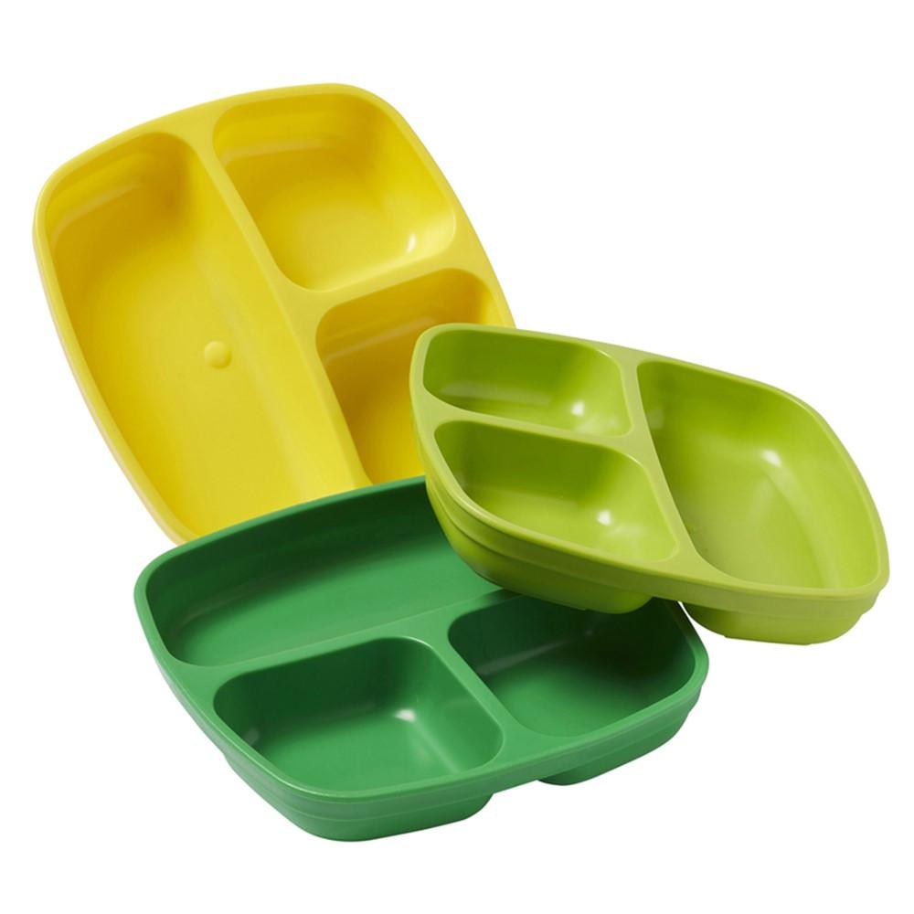 Divided Plates, Citrus, Set of 3 - ELR18101CIT   Ecr4kids, L.P.   Homemaking