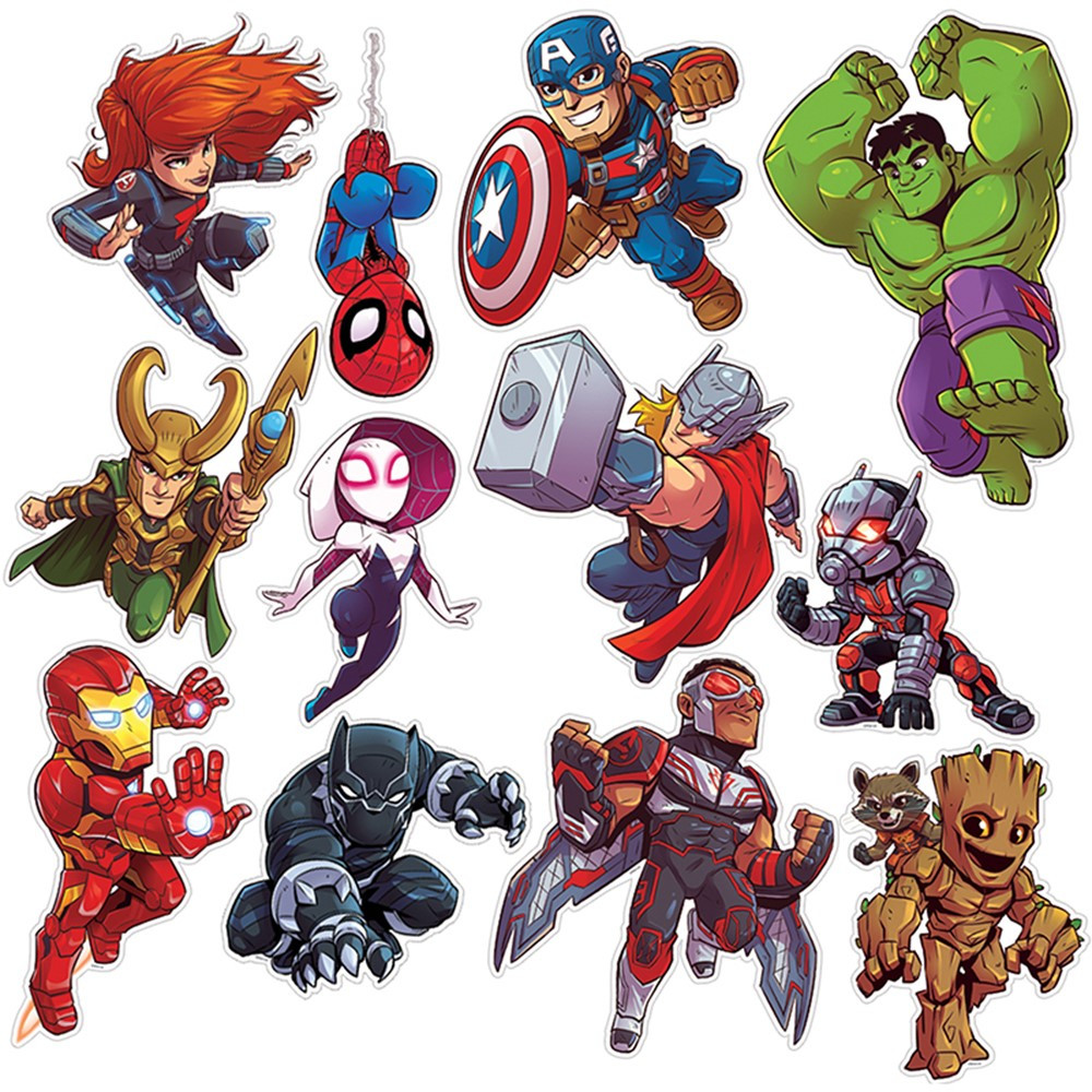 EU-840222 - Marvel Super Hero Adventure 2Sided Decor Kits in Two Sided Decorations